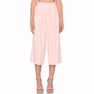 1. State Pink Crepe Culottes